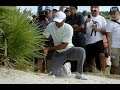 Tiger Double Hits Ball But Avoids Penalty