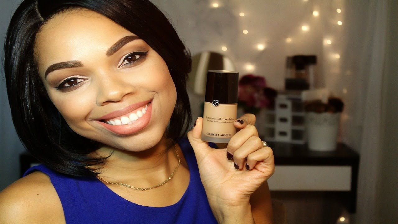 Review Giorgio Armani Luminous Silk Foundation Shade 8 Youtube