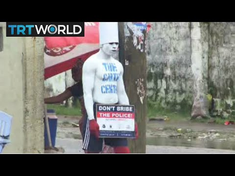 Liberia Human Billboard: Body painting becomes popular marketing tool