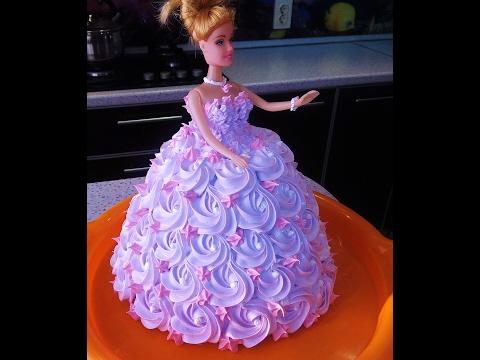 Как украсить торт кукла