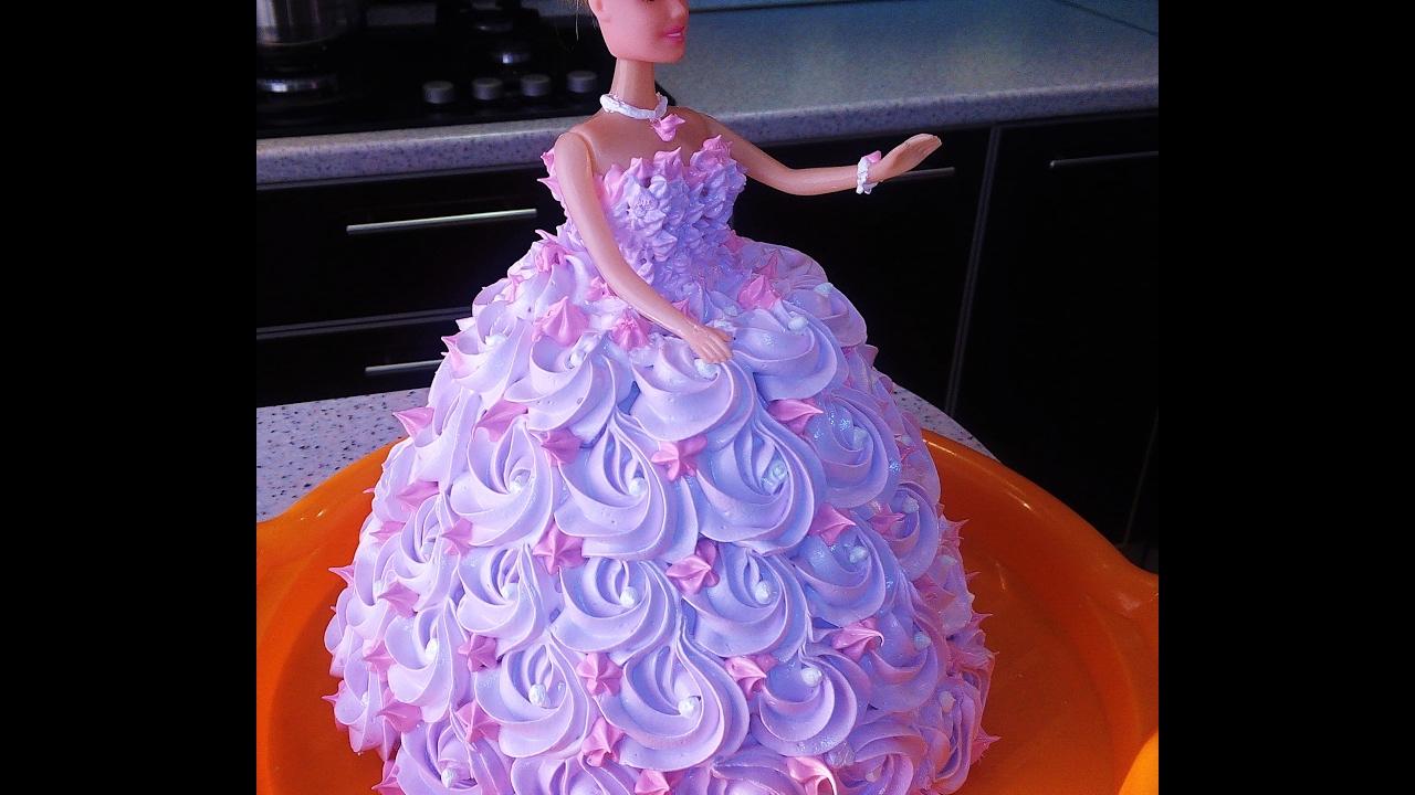 Как сделать торт с куклой барби самой фото 646