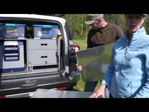 FJ Cruiser Rear Storage Drawers and Fridge