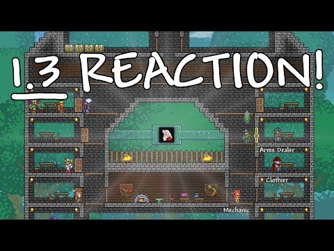 REACTING TO TERRARIA 1.3 ON CONSOLE!