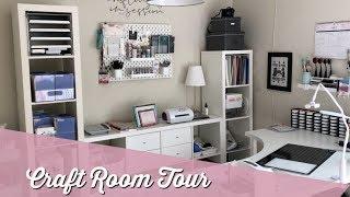 Craft Room Walkthrough Tour + Wall Decal Tutorial