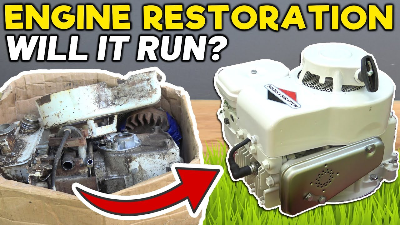 I REBUILT A 43 YEAR OLD ENGINE THEN CUT GRASS WITH IT