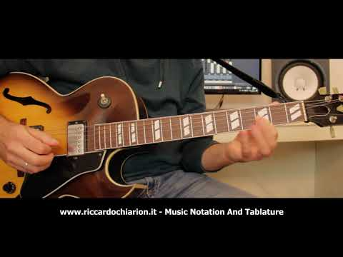 Jazz Guitar Etude #12 - Cherokee (Fast 300 bpm)