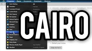 Cairo - A macOS/Linux-like Shell Replacement for Windows 10 (Overview & Demo)