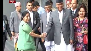 In a warm gesture, PM Modi receives Nepal PM Deuba at his residence