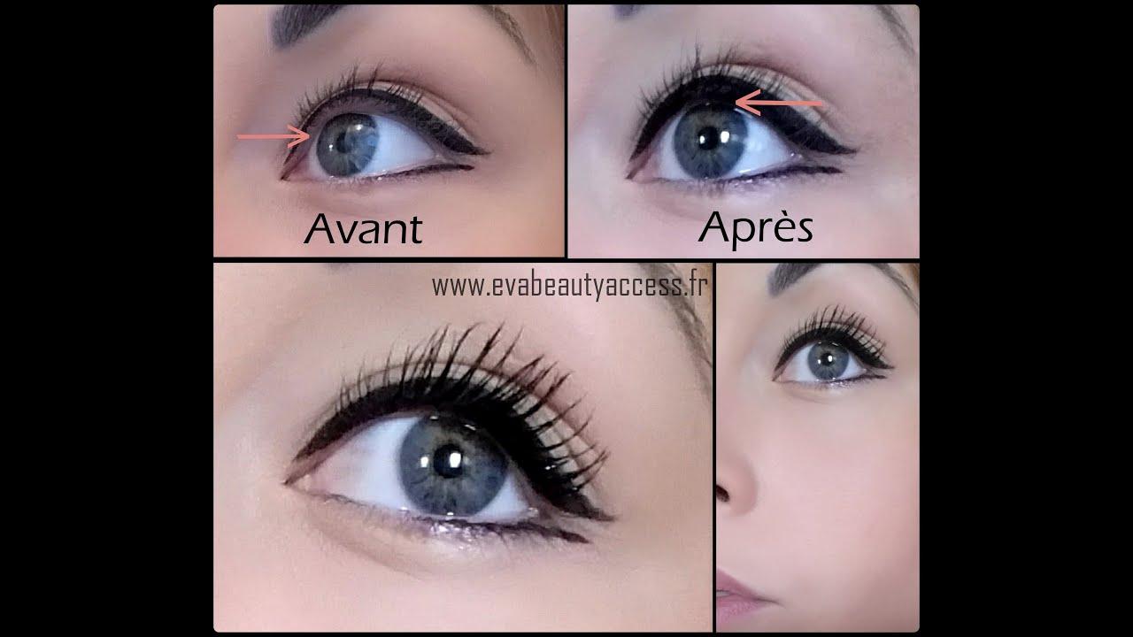 Exceptionnel Eye liner fard noir mat + eau - YouTube SR18
