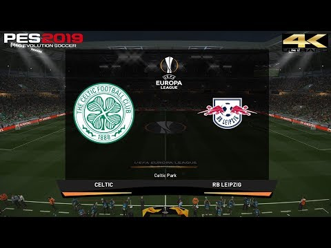 PES 2019 (PC) Celtic vs RB Leipzig | UEFA EUROPA LEAGUE PREDICTION | 8/11/2018 | 4K 60FPS