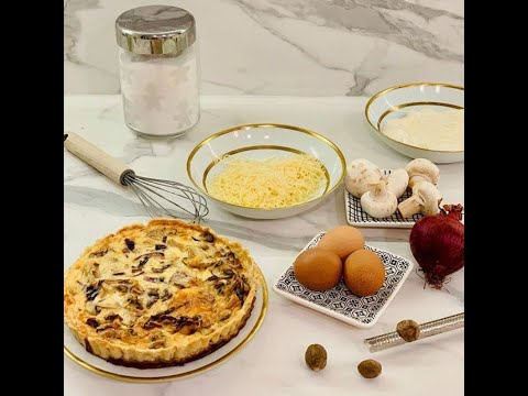 كيش-بالدجاج-اقتصادية-لذيذة-وشهية-في-عشر-دقائق-quiche-au-poulet-facile-délicieuse-en-dix-minutes
