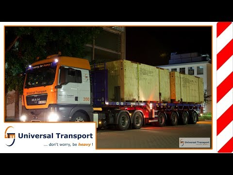 Universal Transport - Heavy load transport Dresden with four vehicles