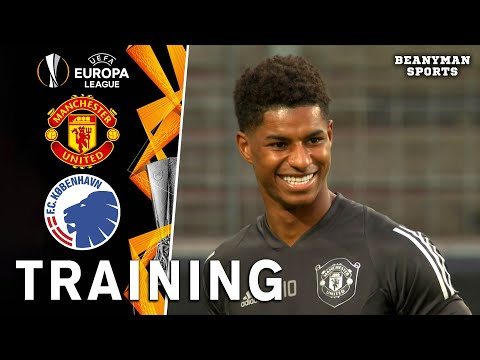 Manchester United Players Train Ahead Of Europa League Quarter-Final Clash With FC Copenhagen