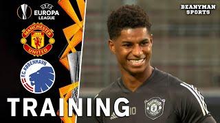 Manchester United Players Train Ahead Of Europa League Quarter-Final Clash With FC Copenhagen