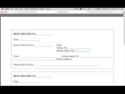 How to Write a Monthly Rental Receipt Form | PDF Template