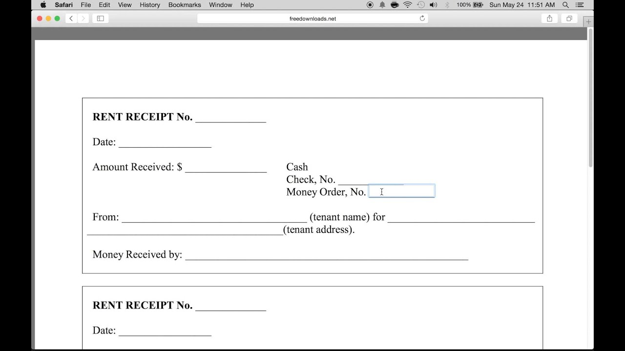 How to Write a Monthly Rental Receipt Form  PDF Template