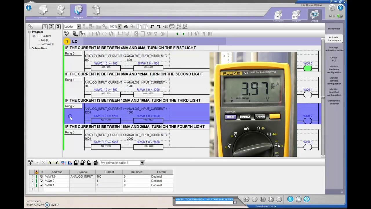 Plc Tutorial Twidosuite 14 4 20 Ma Dc Signal To Analog Card Cw Twido Wiring Diagram Program