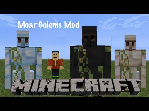 Minecraft 1 2 5 moar golems mod youtube - Minecraft golem de diamant ...