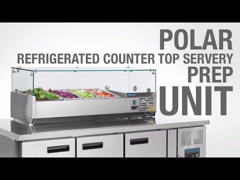 Polar Refrigerated Counter Top Servery Prep Unit (G609 & G608)