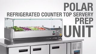 polar refrigerated counter top servery prep unit g609 g608