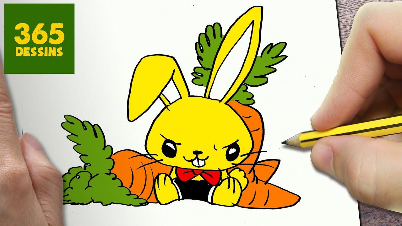 Comment dessiner lapin kawaii tape par tape dessins kawaii facile youtube - Dessin de paques facile a faire ...