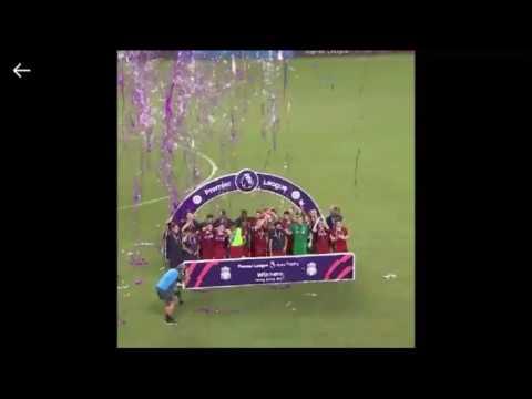 Liverpool winning the premier league Asia trophy