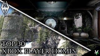 TOP 30 FAVORITE XBOX PLAYER HOMES!- Xbox Modded Skyrim Mod Showcases
