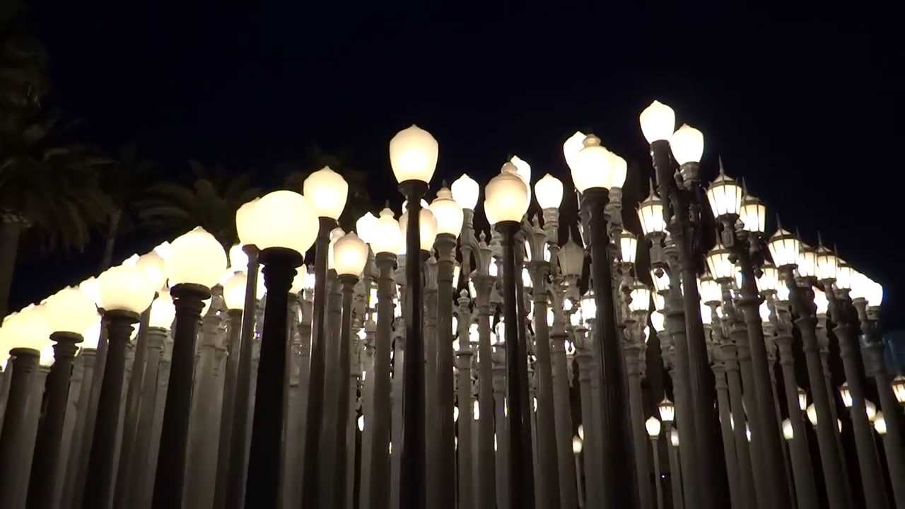 Los Angeles California Lacma Urban Light Hd 2014 Youtube