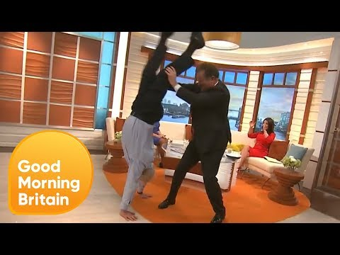 Stanley Johnson Does a Handstand in the GMB Studio! | Good Morning Britain