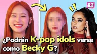 ¿Qué pasa cuando Kpop idols prueban el estilo de maquillaje latino por primera vez?ㅣGlobal Swap