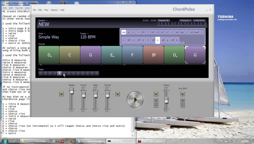 ChordPulse training 1 by PC