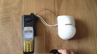 GSM сигнализация охрана. NEW новая модель подключение датчика движения.(Самая экономная сигнализация можно поставить стартовый пакет без абонплаты и за год не потратить ни копейк..., 2016-04-24T21:26:05.000Z)