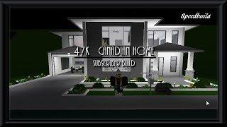47K Canadian home | Roblox Bloxburg | Speedbuild |