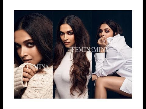 Deepika Padukone Look Hot and Sizzling in black on the cover of Femina India
