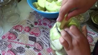 Маринованные кабачки (обалдеть какие вкусные)
