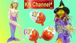 Búp bê KN Channel TIÊN CÁ MỌC CHÂN P1 | BÓC TRỨNG CHOCOLATE BẤT NGỜ PHÙ THỦY BÍ ĐỎ Đồ chơi trẻ em