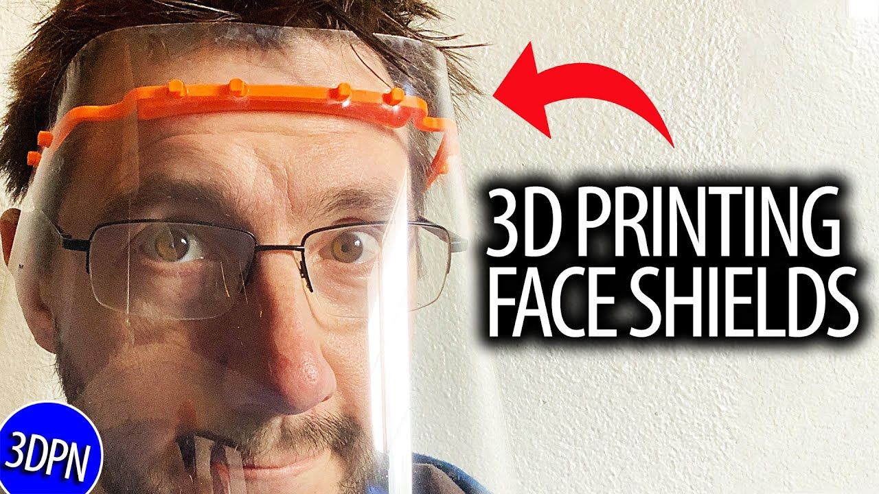 3D printed headband with transparent visor Face shield one-size fits all!