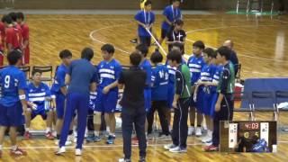 5日 ハンドボール男子 あづま総合体育館 Aコート 江津×湯沢 1回戦 2