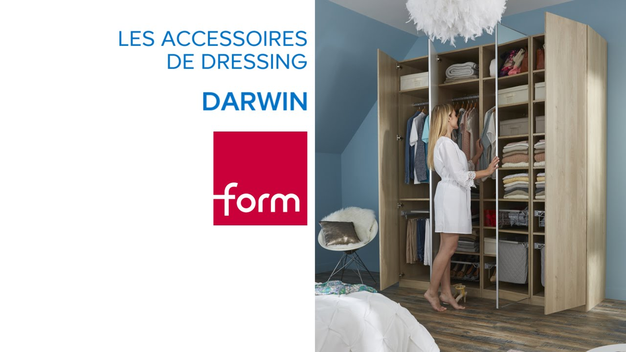 accessoires de dressing composable darwin form castorama youtube. Black Bedroom Furniture Sets. Home Design Ideas