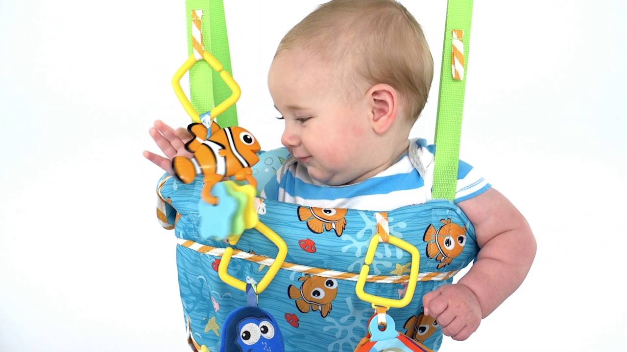 cd1c06385 Disney Baby FINDING NEMO Sea of Activities Door Jumper from Bright ...