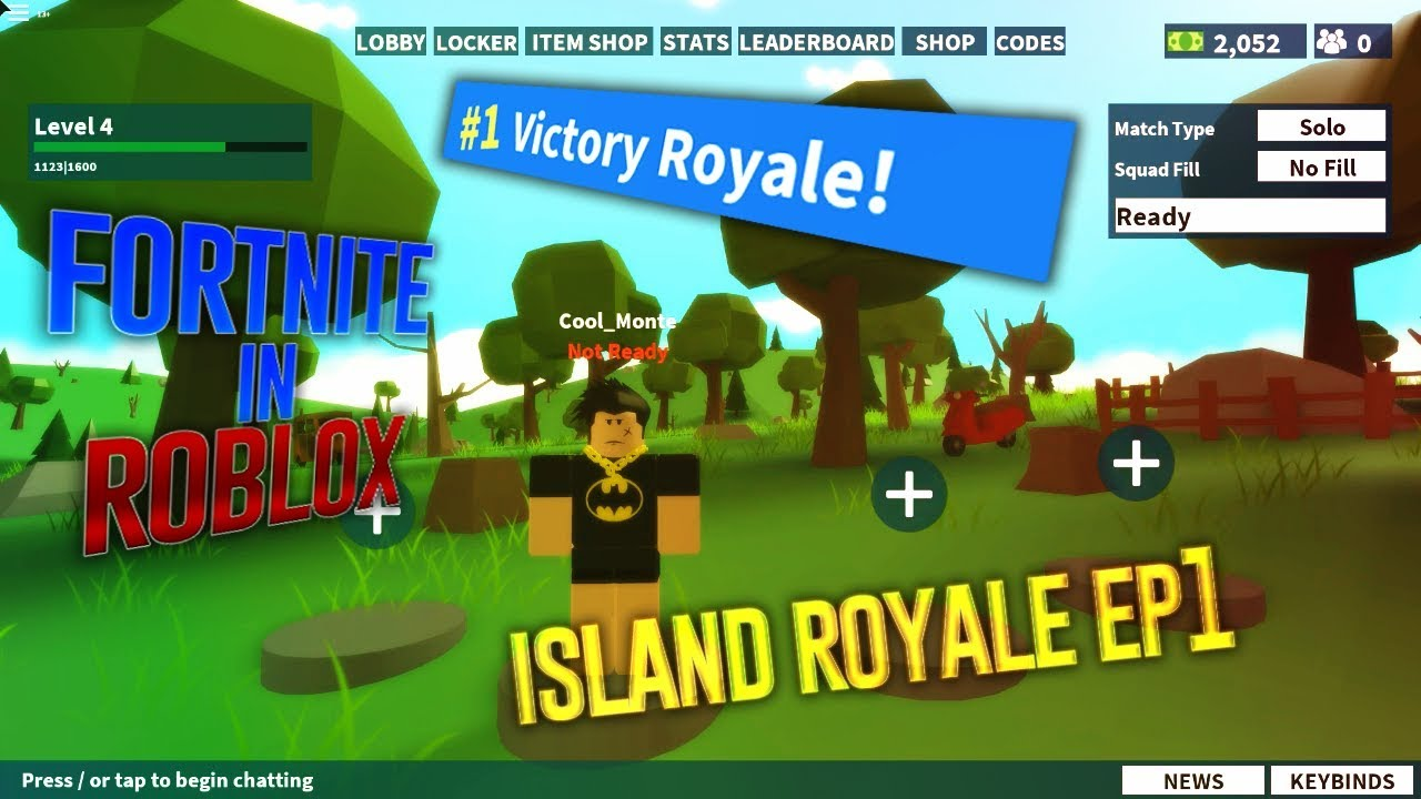 FORTNITE IN ROBLOX RELEASED - GAME CAME DOWN TO A 1V1 ...