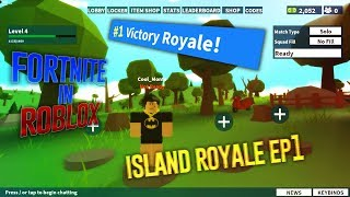 FORTNITE IN ROBLOX RELEASED - GAME CAME DOWN TO A 1V1 - ROBLOX Island Battle Royale Gameplay