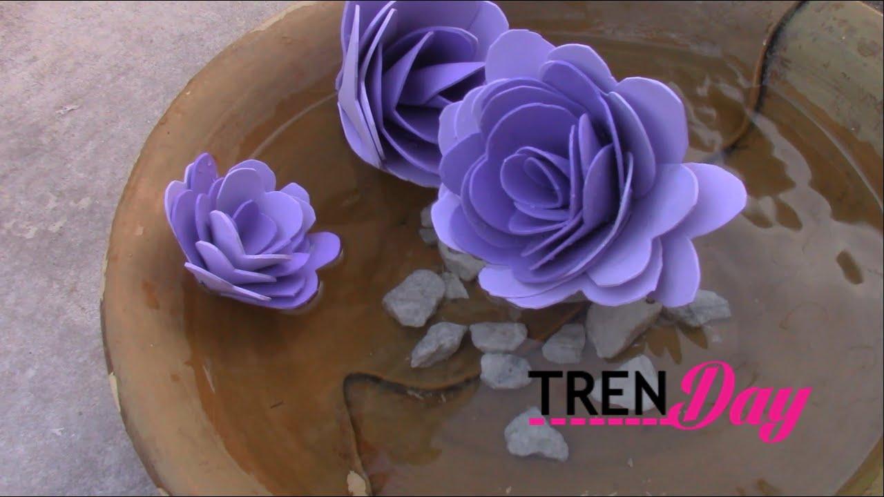Diy floating flower tutorial made from foam sheets youtube youtube premium mightylinksfo