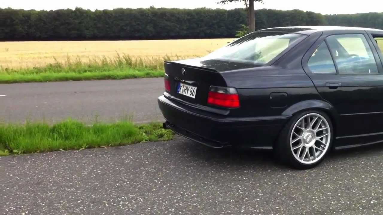 Bmw E36 330i Alpina B3 Straight Pipes With Miss Shift