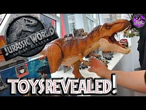 FALLEN KINGDOM Toys Revealed!!   Jurassic World   New York Toy Fair