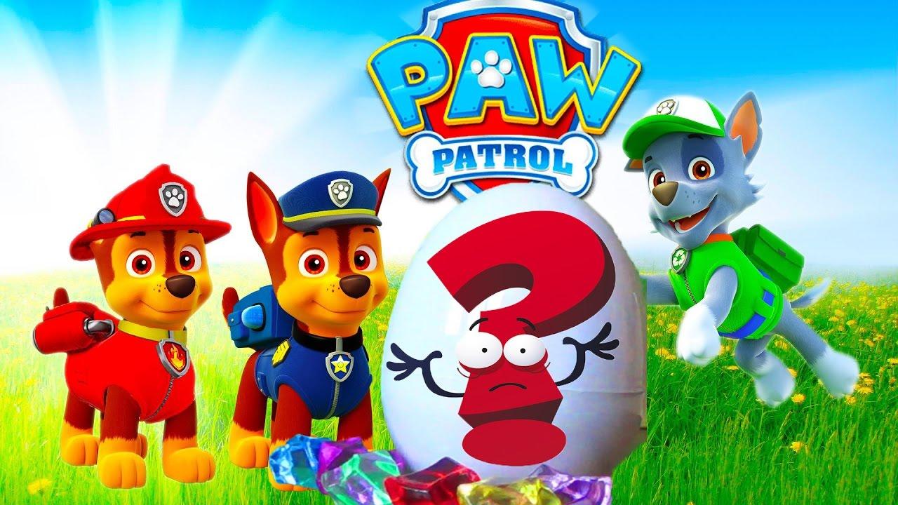 Щенячий патруль - Паук из яйца напал на щенков - Мультик с игрушками для детей