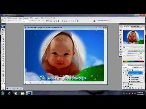 crear invitacion de bautizo con photoshop cs3 youtube