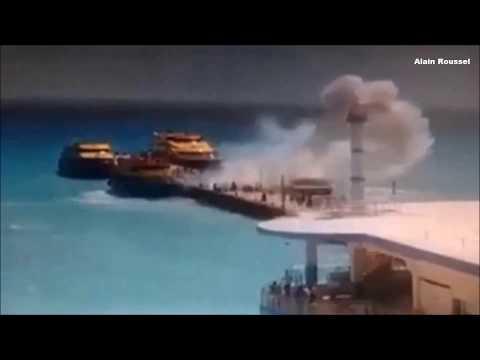 FERRY EXPLOSION @ Playa Del Carmen !!!