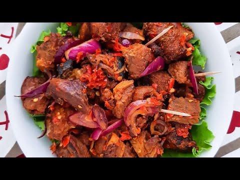 Asun Recipe (Spicy Goat Meat)
