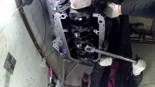 Сборка дизельного двигателя Toyota 2С . Часть 1